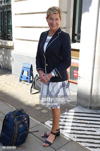 Katie Hopkins sighting at BBC Radio 2 on August 17 2016 in London England