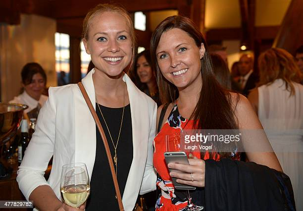 Katie Johnson and Katy Darnaby celebrate Jacques Pepin's 80th Birthday at the Sundeck on Aspen Mountain during The Aspen Wine Food Classic on June 19...