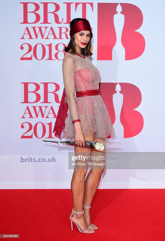 Katie Keight attending the Brit Awards at the O2 Arena, London