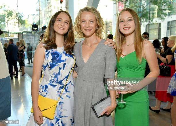 Katie Kramer Ashely Kramer and Ella Kramer attend Lincoln Center Corporate Fund's Stand Up Sing for the Arts at Alice Tully Hall on June 19 2018 in...