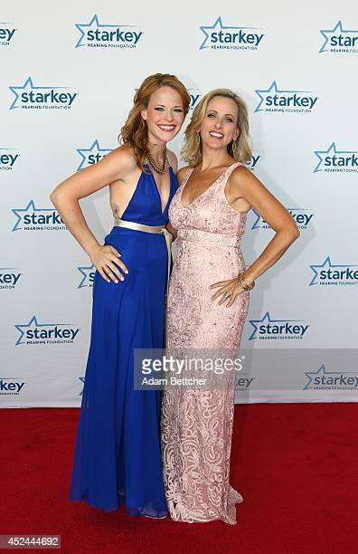 Katie Leclerc and Marlee Matlin walk the red carpet at the 2014 Starkey Hearing Foundation So The World May Hear Gala at the St Paul RiverCentre on...