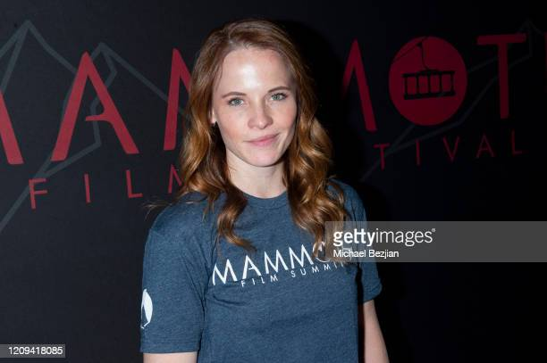 Katie Leclerc arrives at the 3rd Annual Mammoth Film Festival Red Carpet - Friday on February 28, 2020 in Mammoth Lakes, California.