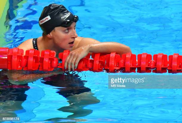 Katie Ledecky during the Budapest 2017 FINA World Championships on July 26 2017 in Budapest Hungary