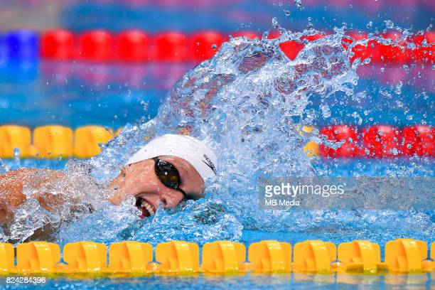 Katie Ledecky during the Budapest 2017 FINA World Championships on July 28 2017 in Budapest Hungary