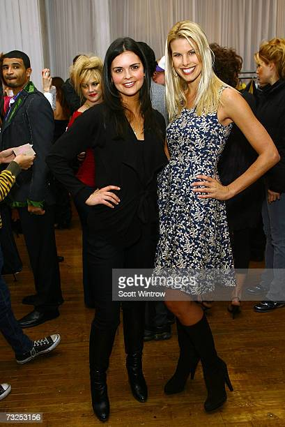 Katie Lee and Beth Ostrosky pose at the Monica Moss Fall 2007 fashion presentation during MercedesBenz Fashion Week at The Puck Buliding February 7...