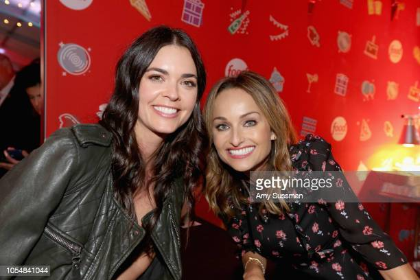 Katie Lee and Giada De Laurentiis attend Food Network's 25th Birthday Party Celebration at the 11th annual New York City Wine Food Festival at Pier...