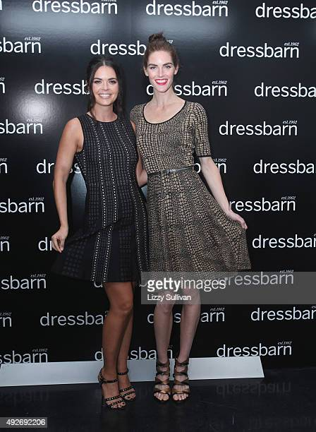 Katie Lee and Hilary Rhoda pose at Dressbarn Fall 2015 Campaign Launch at Spring Studios on October 14 2015 in New York City