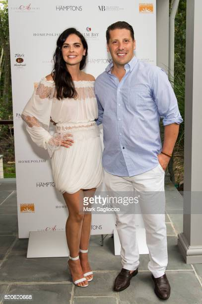 Katie Lee and Matthew Breitenbach attend Hamptons Magazine Celebration with Cover Star Katie Lee on July 21 2017 in Sag Harbor New York