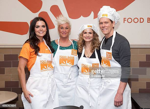 Katie Lee Anne Burrell Kyra Sedgwick and Kevin Bacon attend Food Bank For New York City's Thankful To Give holiday campaign event at the Food Bank...