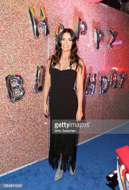 Katie Lee attends Food Network's 25th Birthday Party Celebration at the 11th annual New York City Wine Food Festival at Pier 92 on October 13 2018 in...