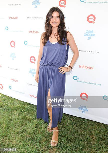 Katie Lee attends Super Saturday 14 To Benefit OCRF Hosted By Emma Roberts Kelly Ripa Donna Karan Instyle at Nova's Ark Project on July 30 2011 in...