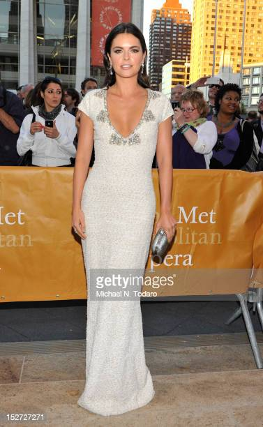 Katie Lee attends the 2012 Metropolitan Opera season opening night performance of L'Elisir D'Amore at The Metropolitan Opera House on September 24...