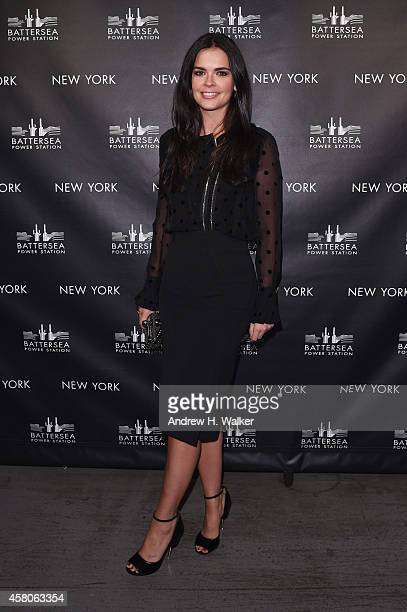 Katie Lee attends the Battersea Power Station launch party to celebrate the launch of its Global Tour at Canoe Studios on October 29, 2014 in New...