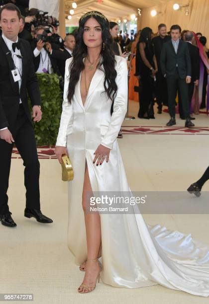 Katie Lee attends the Heavenly Bodies Fashion The Catholic Imagination Costume Institute Gala at The Metropolitan Museum of Art on May 7 2018 in New...