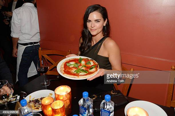 Katie Lee attends the New York premiere of 'BURNT' presented by The Weinstein Company Sassoregale Wine Castello Cheese and FIJI Water on October 20...