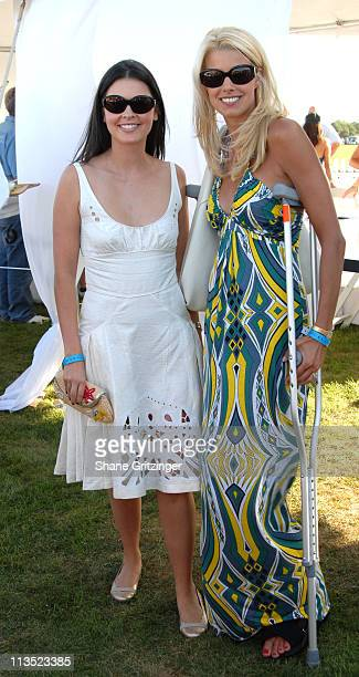 Katie Lee Joel and Beth Ostrosky during Jessica Biel and The Island Villas at Molasses Reef host the MercedesBenz Polo Challenge at Bridgehampton...