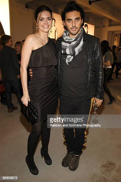 Katie Lee Joel and Yigal Azrouel attend the GQ and CFDA Best New Menswear Designers in America party at 620 Fifth Avenue on February 11 2009 in New...