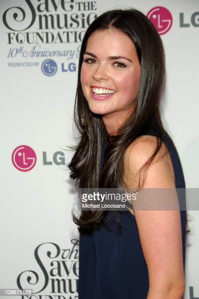 Katie Lee Joel arrives at VH1's Save The Music 10th Anniversary Gala at The Tent at Lincoln Center on September 20 2007 in New York City