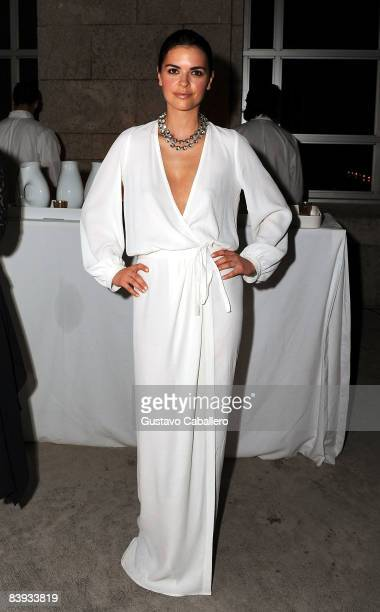 Katie Lee Joel attends the Yves Saint Laurent and ArtForum celebration of Art Basel 2008 at The Bass Museum on December 5 2008 in Miami Beach Florida