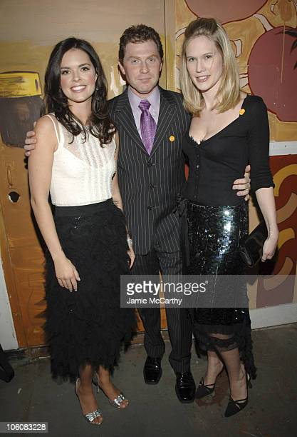 Katie Lee Joel Bobby Flay and Stephanie March during Food Wine Magazine Hosts The 2006 'Best New Chefs' Awards Ceremony and Party at The Battery...