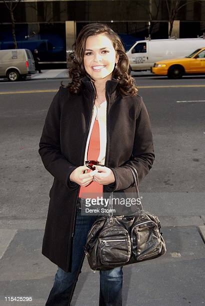 Katie Lee Joel during Caprice Katie Lee Joel Joey Cheek and Jo Frost appear on the WB11 Morning News March 8 2006 at Daily News Building in New York...
