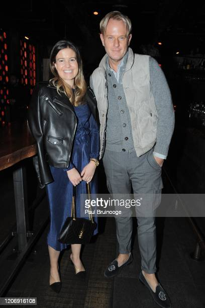 Katie Lee Pollack and Daniel Benedict attend Sony Pictures Classics And The Cinema Society Host A Special Screening Of The Climb at iPic Theater on...