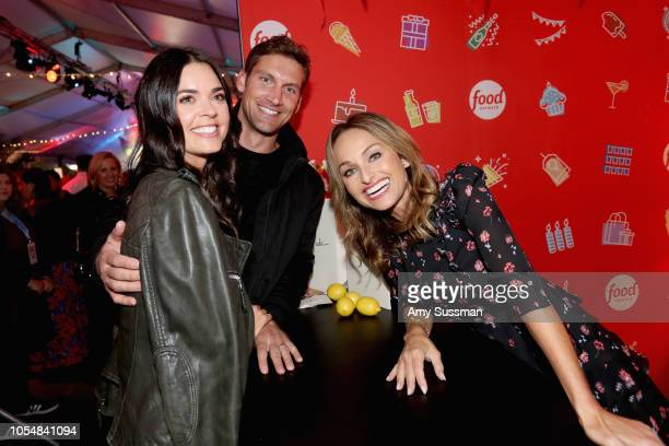 Katie Lee Ryan Biegel and Giada De Laurentiis attend Food Network's 25th Birthday Party Celebration at the 11th annual New York City Wine Food...