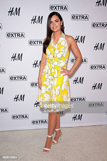 Katie Lee visits 'Extra' at their New York studios at HM in Times Square on April 15 2015 in New York City