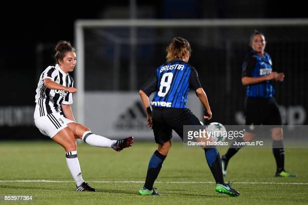 Katie Leigh Zelem during a friendly match between Juventus Women and FC Internazionale Women on September 22 2017 in Vinovo Italy