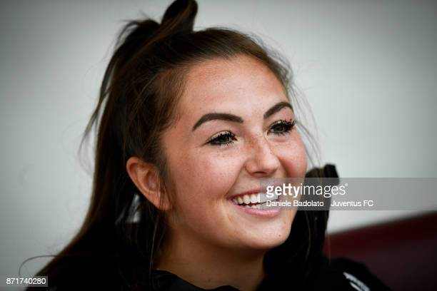 Katie Leigh Zelem in action during the Juventus women training session on November 8 2017 in Turin Italy