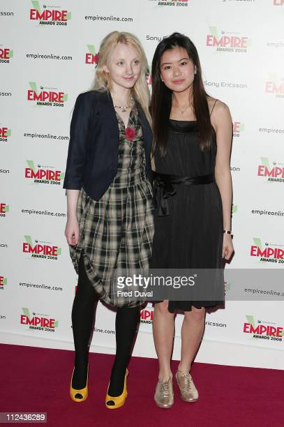 Katie Leung and Evanna Lynch attend the Sony Ericsson Empire Awards at the Grosvenor House Hotel on March 9 2008 in London England