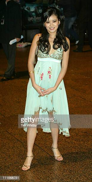 Katie Leung during 'Harry Potter and the Goblet of Fire' London Premiere Outside Arrivals at Odeon Leicester Square in London Great Britain