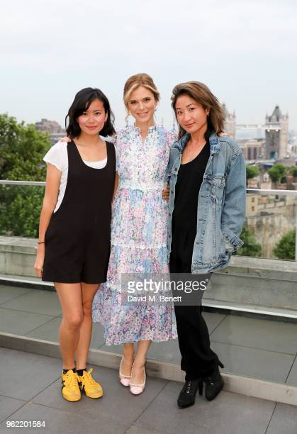 Katie Leung Emilia Fox and Kae Alexander attend the launch of the Four Seasons Residences London at Ten Trinity Square on May 24 2018 in London...