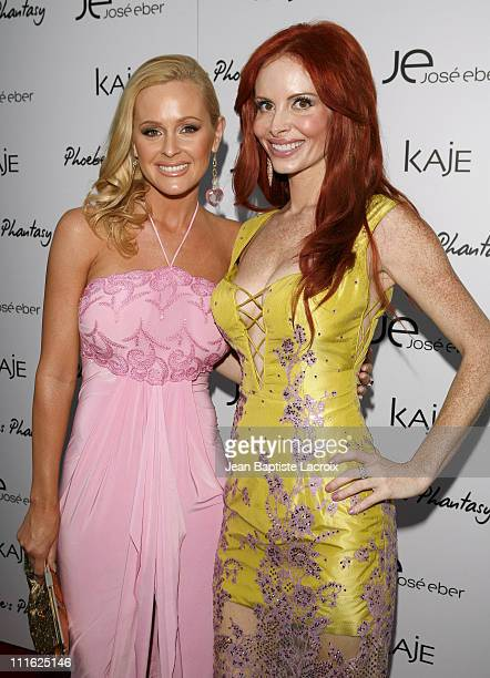 Katie Lohmann and Phoebe Price during Phoebe Price Launches Phoebe's Phantasy by Lotion Glow at Kaje Store in Beverly Hills California United States