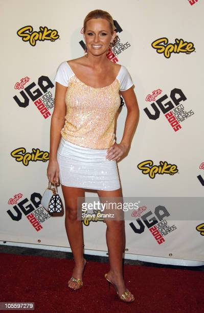 Katie Lohmann during 2005 Spike TV Video Game Awards Arrivals at Gibson Amphitheater in Universal City California United States