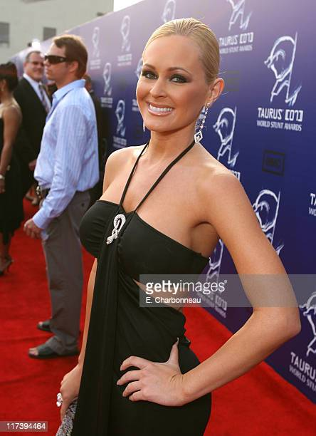 Katie Lohmann during 2007 Taurus World Stunt Awards Red Carpet at Paramount Studios in Los Angeles California United States