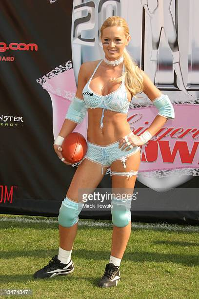 Katie Lohmann during Bodogcom Lingerie Bowl III National Media Day January 30 2006 at LA Memorial Coliseum in Los Angeles California United States
