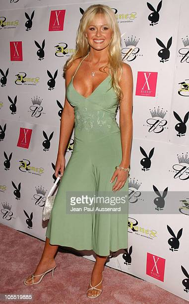 Katie Lohmann during Playboy July 2005 Issue Release Party for Cover Model Joanna Krupa at Montmartre Lounge in Hollywood California United States