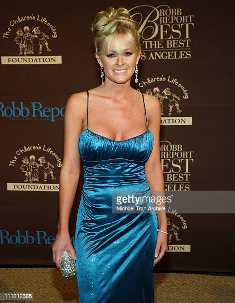 Katie Lohmann during RobbReport Best of the Best of Los Angeles October 15 2005 at Santa Monica Airport Hangar Eight in Santa Monica California...