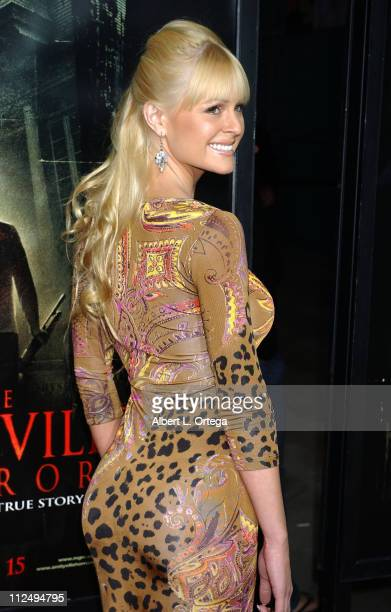 Katie Lohmann during 'The Amityville Horror' World Premiere Arrivals at Arclight Cinerama Dome in Hollywood California United States