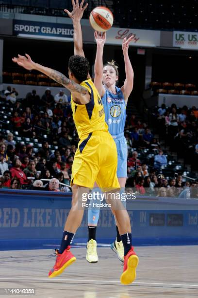 Katie Lou Samuelson of Chicago Sky shoots the ball against the Indiana Fever on May 16 2019 at the Bankers Life Fieldhouse in Indianapolis Indiana...