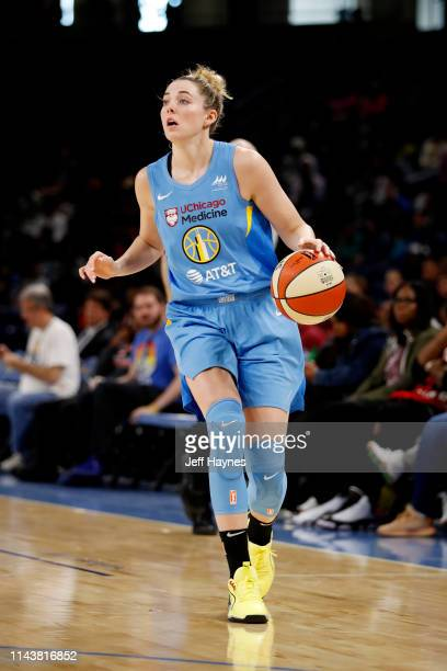 Katie Lou Samuelson of The Chicago Sky handles the ball against the Indiana Fever on May 14 2019 at the Wintrust Arena in Chicago Illinois NOTE TO...
