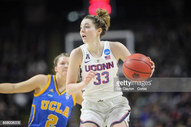Katie Lou Samuelson of the Connecticut Huskies in action during the UConn Huskies Vs UCLA Bruins NCAA Women's Division 1 Basketball Championship game...