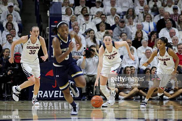 Katie Lou Samuelson UConn in action during the Notre Dame Vs UConn Women's Basketball game at Grampel Pavilion Storrs Connecticut USA 5th December...