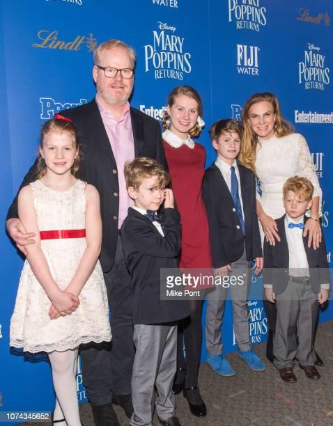 Katie Louise Gaffigan Jim Gaffigan Michael Gaffigan Marre Gaffigan Jack Gaffigan Jeannie Gaffigan and Patrick Gaffigan attend The Cinema Society's...