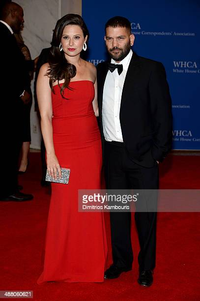 Katie Lowes and Guillermo Diaz attend the 100th Annual White House Correspondents' Association Dinner at the Washington Hilton on May 3 2014 in...