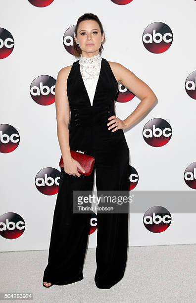 Katie Lowes attends the Disney/ABC 2016 Winter TCA Tour at Langham Hotel on January 9 2016 in Pasadena California