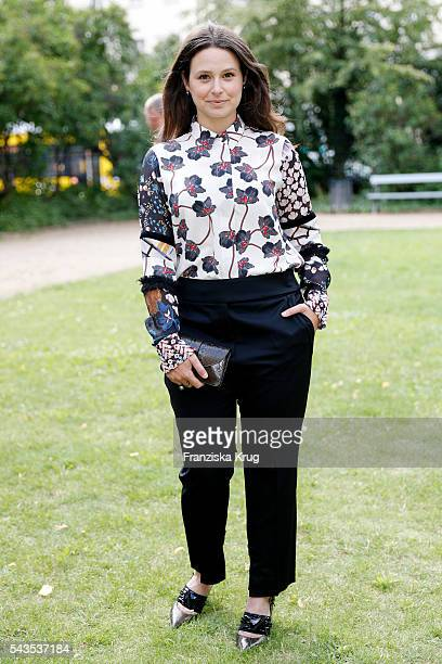 Katie Lowes attends the Dorothee Schumacher show during the MercedesBenz Fashion Week Berlin Spring/Summer 2017 at Elisabethkirche on June 29 2016 in...