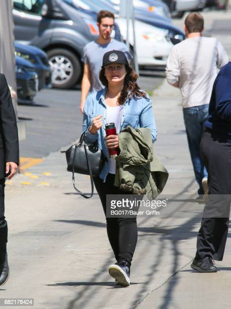 Katie Lowes is seen at 'Jimmy Kimmel Live' on May 11 2017 in Los Angeles California
