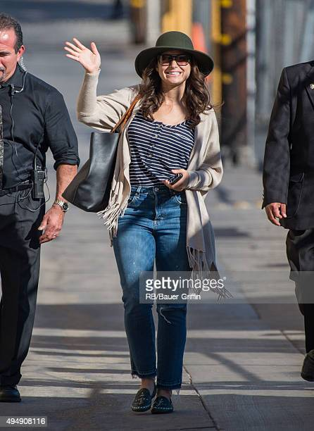 Katie Lowes is seen at 'Jimmy Kimmel Live' on October 29 2015 in Los Angeles California